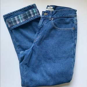 Vintage L.L. Bean Flannel Lined Relaxed Mom Jeans
